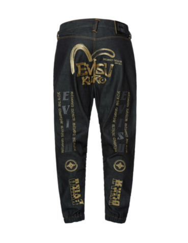 Multi Graphics Embroidered 3D Jogger Jeans