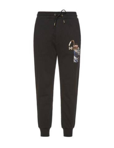 Ukiyo-E Print and Hannya Embroidered Sweatpants