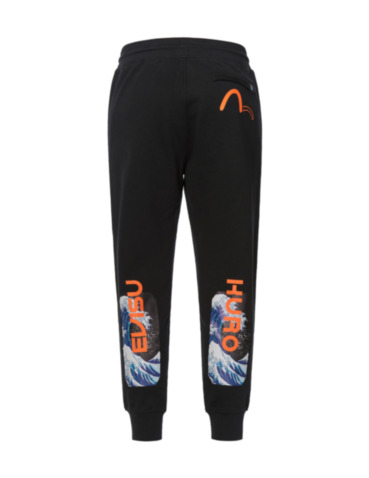 Ukiyo-E and Logo Print Sweatpants