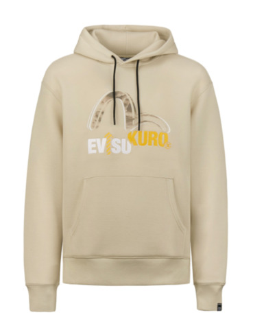 Textured Seagull Print Hoodie