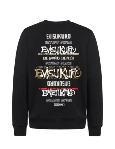 Multi Logo and Slogan Print Sweatshirt