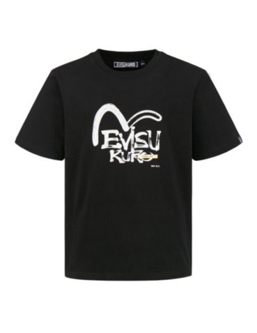 Brushed Seagull and Logo Print T-shirt