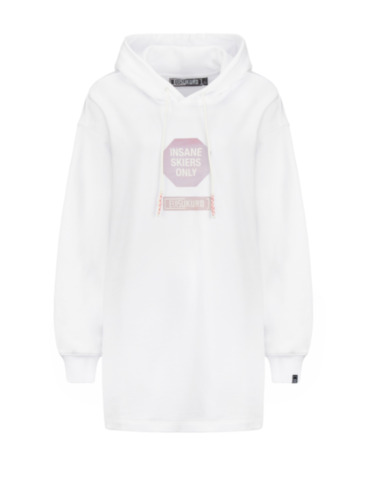 Warning Sign Print Oversized Hoodie
