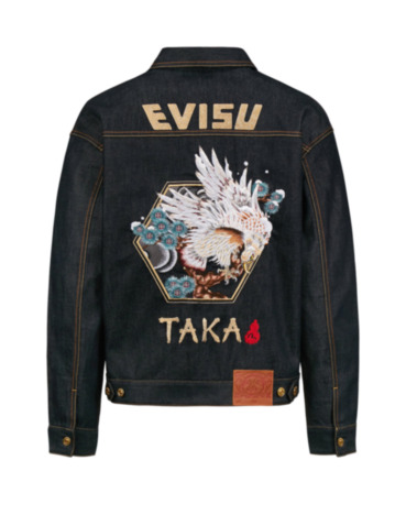Taka Embroidered Loose Fit Denim Jacket
