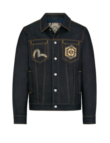Brocade Daicock Insert Denim Jacket