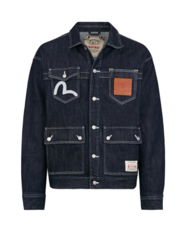 Banknote Appliquéd Loose Fit Denim Jacket