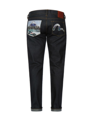 Mount Fuji Graphic Pocket Slim Fit Jeans 2010