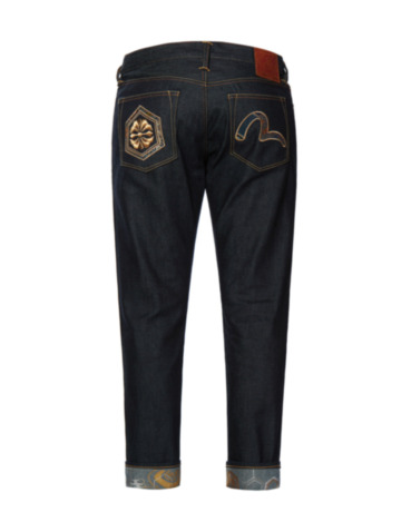 Brocade Kamon and Seagull Appliquéd Slim Fit Jeans 2010