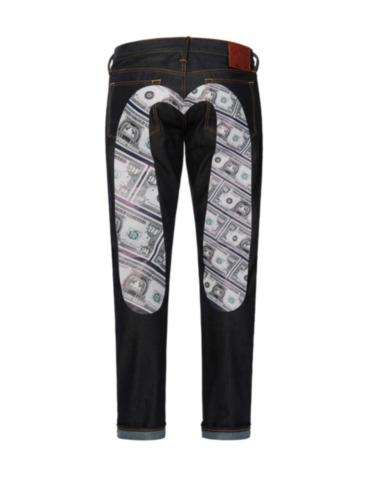 Banknote Graphic Daicock Regular Fit Jeans 2008
