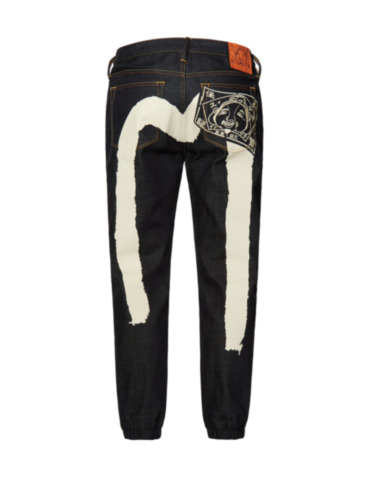 Godhead Embroidered Daicock Print Denim Jogger Pants 2017