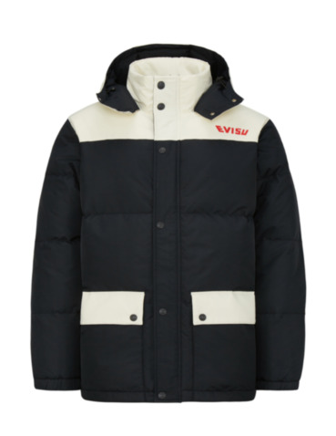 Seagull and Logo Print Down Jacket