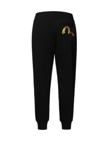 Calligraphy Style Seagull Embroidered Sweatpants