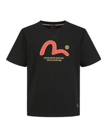 T-shirt with Seagull Print and Embroidery