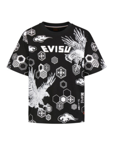 Allover Brocade Pattern and Taka Print T-shirt