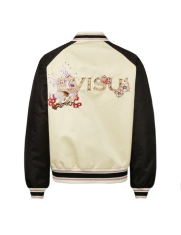 Taka Embroidered and Brocade Logo Padded Souvenir Jacket