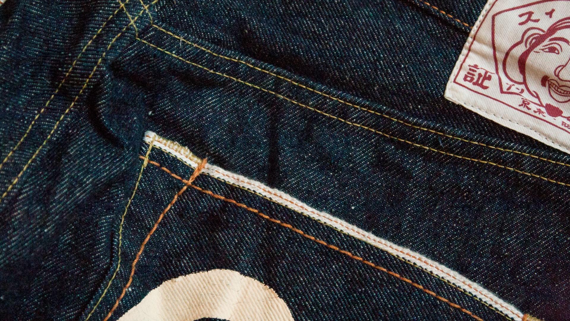 Kokka Jeans Smiley dark blue denim